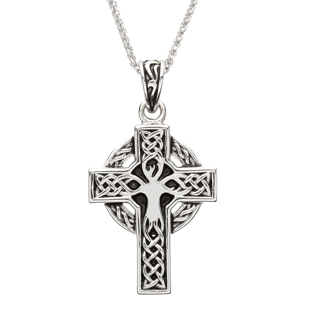 Tree Of Life Celtic Cross Necklace