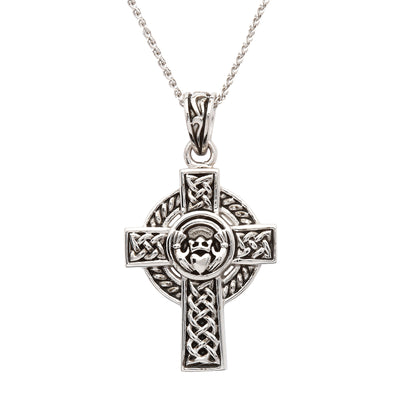 Claddagh Celtic Cross Necklace