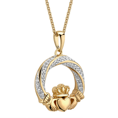 Gold Claddagh Necklace