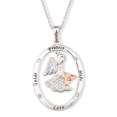 Guide Protect Hope Love Angel Necklace