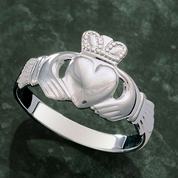 Sterling Silver Men's Family Claddagh Ring