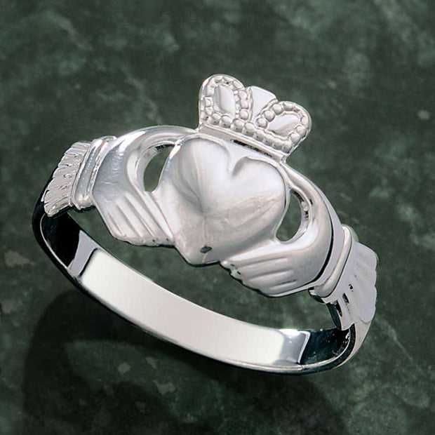 Sterling Silver Women's Family Claddagh Ring