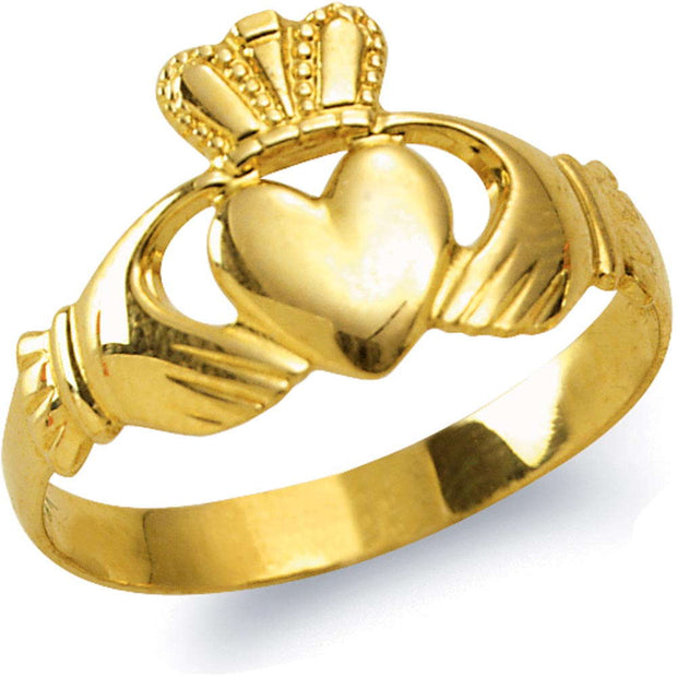 10 kt Gold Men's Family Claddagh Ring