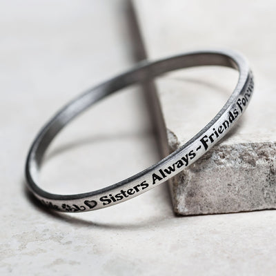 Sisters Message Bangle