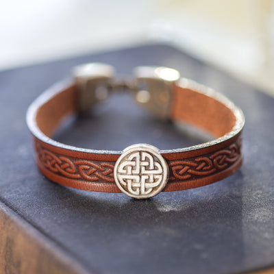 Celtic Leather Wristband