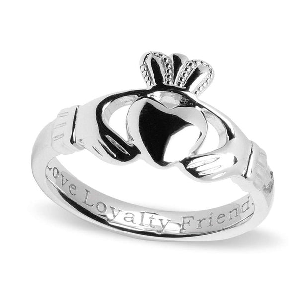 Men's Sterling Silver Comfort Claddagh Ring