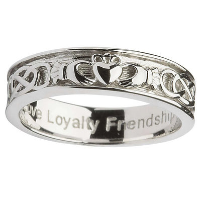 Sterling Claddagh Celtic Men's Ring