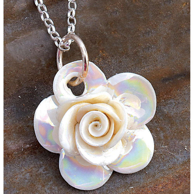 Belleek Rose Necklace