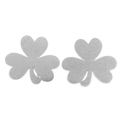 Silvertone Shamrock Earrings