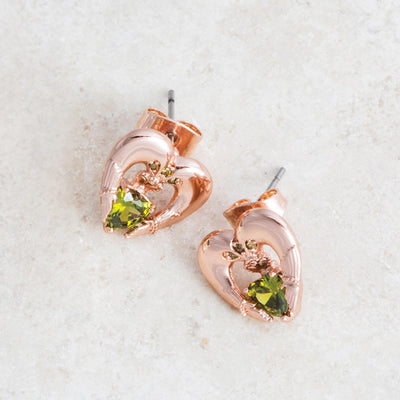 Rose Gold Claddagh Earrings