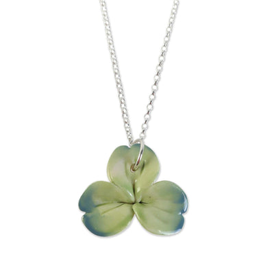 Belleek Shamrock Necklace