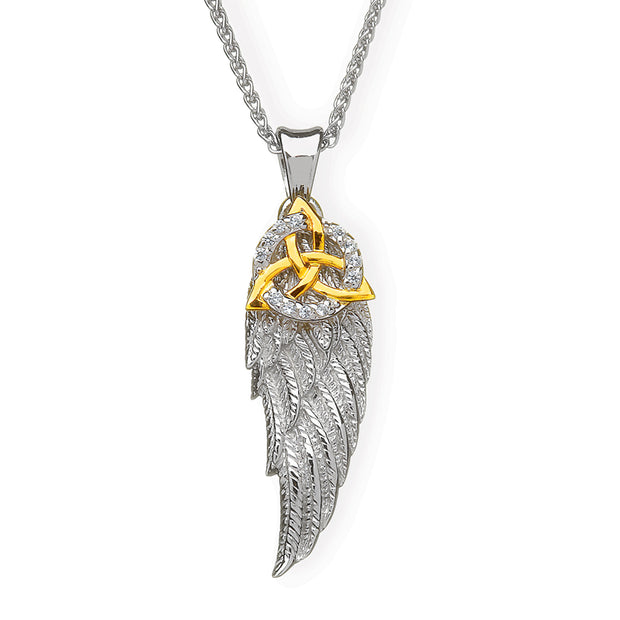 Trinity in Angel Wing Necklace