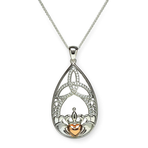Claddagh with Trinity Drop Pendant