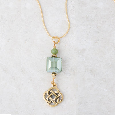Connemara Necklace with Gold Celtic Knot