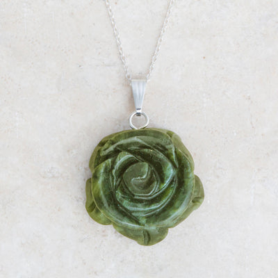 Carved Rose Pendant