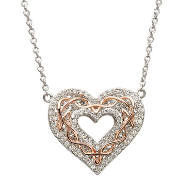 Swarovski Heart Rose Gold Pendant