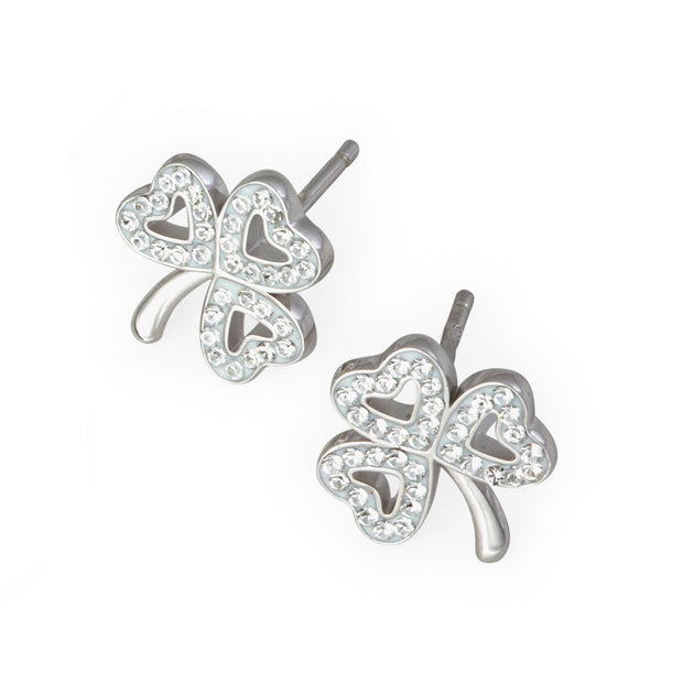 Swarovski Shamrock Stud Earrings