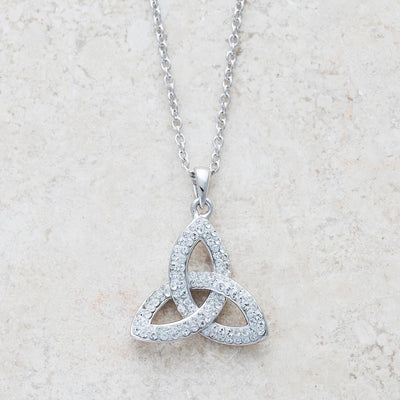 Trinity Pendant Adorned with Swarovski Crystals
