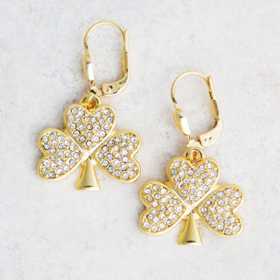 Sparkle Shamrock Earrings