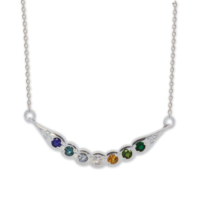 Family Birthstone Bar Necklace