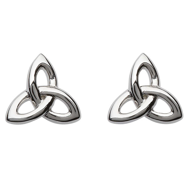 3D Trinity Stud Earrings