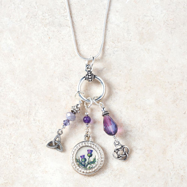 Scottish Thistle Amethyst Necklace