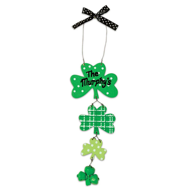 Personalized Shamrock Hanger
