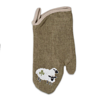 Shamrock Sheep Oven Mitt