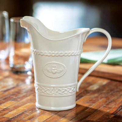 Belleek Claddagh Pitcher