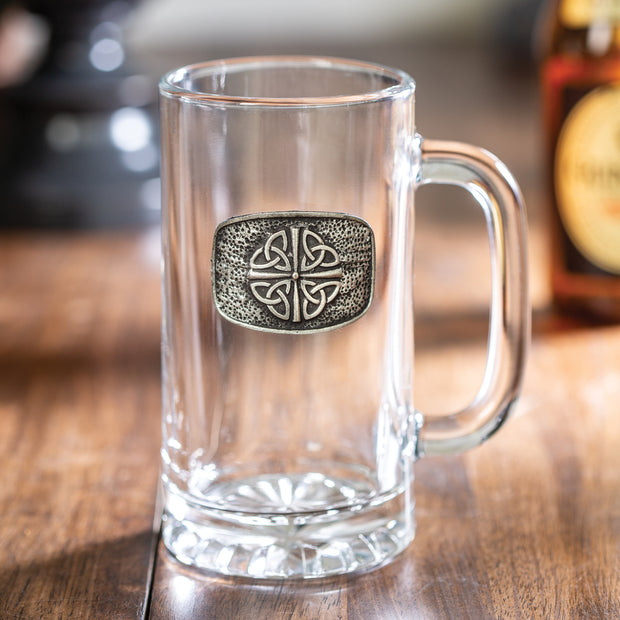 Embossed Pewter Tankard