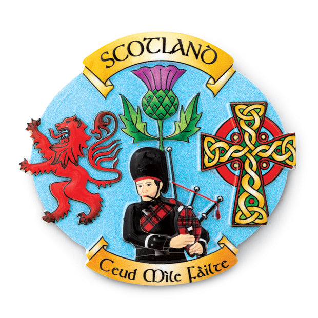 Scottish Collage Magnet