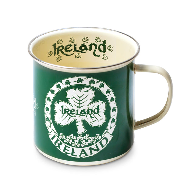 Enamel Mug with Shamrock