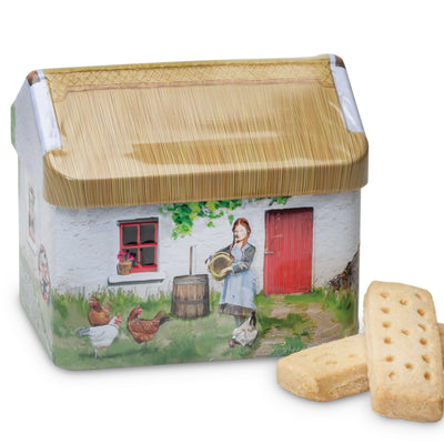 Shortbread Cookies In Cottage Tin