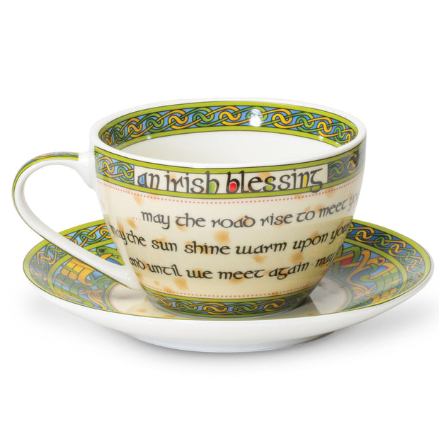 Ireland Blessing Cup And Saucer