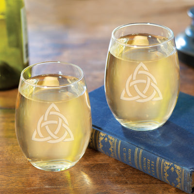 Celtic Trinity Wine Glasses