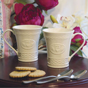 Belleek Claddagh Mug Pair