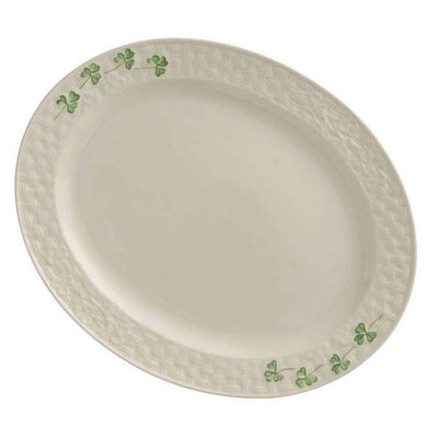 Belleek Shamrock Small Oval Platter