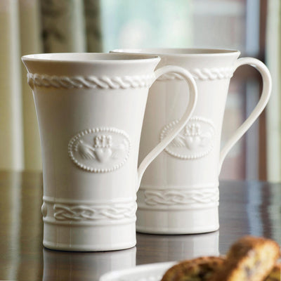 Belleek Claddagh Latte Mugs