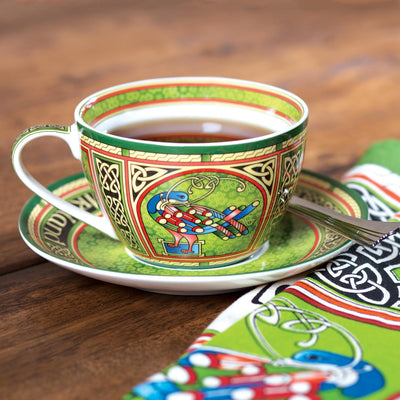 Celtic Peacock Cup and Saucer