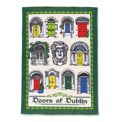 Dublin Doors Tea Towel