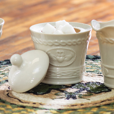 Belleek Claddagh Sugar Bowl