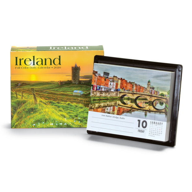 2019 - 2020 Ireland Landscapes 18 Month Desk Calendar