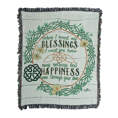 Irish Blessings Tapestry Throw