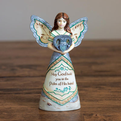 Irish Blessing Angel Holding Claddagh