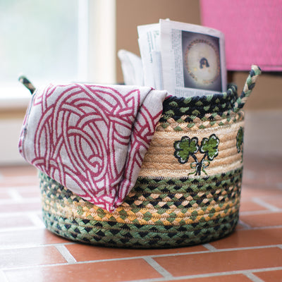 Medium Shamrock Utility Basket
