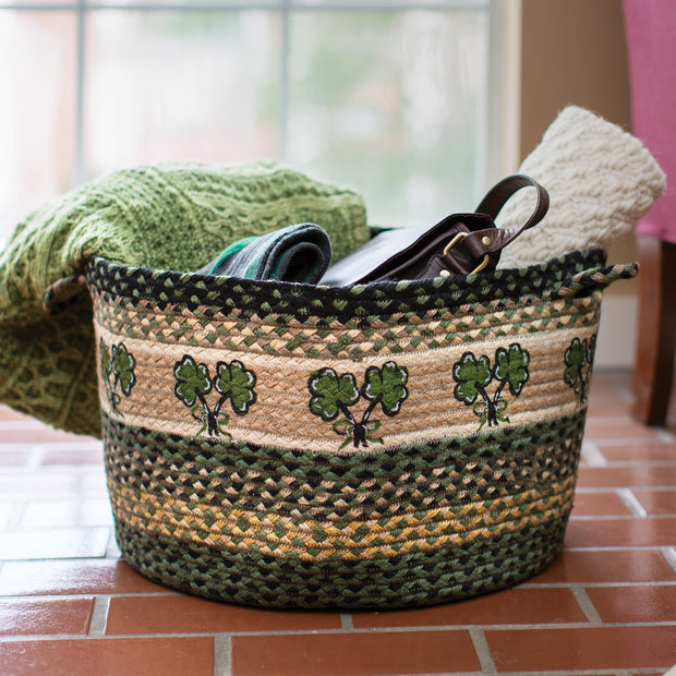 Large Shamrock Utility Basket