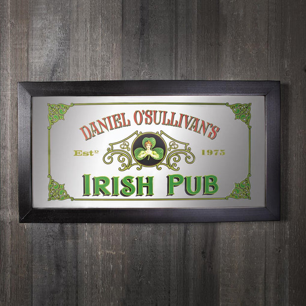 Irish Pub Personalized Mirror