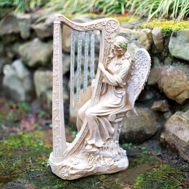 Angel with Harp Chime