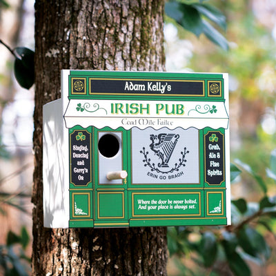 Personalized Irish Pub Birdhouse