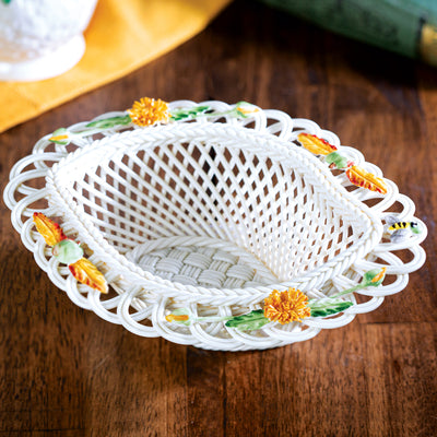 Belleek Autumn Flower Basket